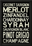 Wine Grape Types Art Print Poster Photo