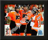 Mike Richards, Simon Gagne, & Jeff Carter 2010 NHL Stanley Cup Finals Prints
