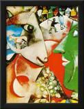 Yo y la aldea Lámina por Marc Chagall