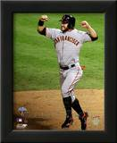 Cody Ross Celebrates Edgar Renteria's 3 Run Home Run Game Five of the 2010 World Series Print