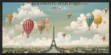 Ballooning Over Paris Posters by Isiah and Benjamin Lane