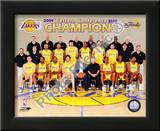 2009-10 Los Angeles Lakers Team with Western Conference Champions Art
