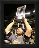 Cody Ross With World Series Trophy Game Five of the 2010 World Series Prints
