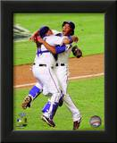 Bengie Molina & Neftali Feliz Celebrate winning the 2010 ALCS Poster