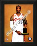 LeBron James with the 2009-10 MVP Trophy Prints