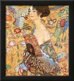 Lady with Fan Poster by Gustav Klimt