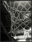 Close-up of a Basketball Net Framed Photographic Print