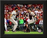 Buster Posey & Brian Wilson Celebrate winning the 2010 NLCS Prints