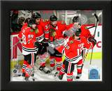 Kane, Byfuglien, Sharp, Keith, & Toews Celebrate Byfuglien's Goal in 2010 NHL Stanley Cup Finals Art