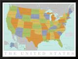 United States Map Art