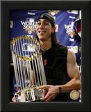 Tim Lincecum With World Series Trophy Game Five of the 2010 World Series Prints