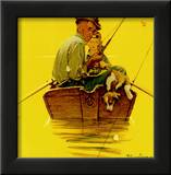 Fish Finders Art by Norman Rockwell