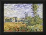 Landscape at Vetheuil Print by Claude Monet