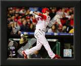Chase Utley 2009 MLB World Series 3 Run Home Run Print