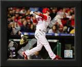 Chase Utley 2009 MLB World Series 3 Run Home Run Print