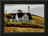 Hill and Houses Cape Elizabeth Maine Poster by Edward Hopper