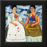 The Two Fridas, c.1939 Posters by Frida Kahlo