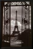 Eiffel Tower Through Gates Prints by Alexandre-Gustave Eiffel