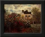 Artist's Garden in Argenteuil Posters by Claude Monet