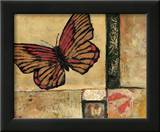 Butterfly in Red Art by Judi Bagnato