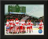 The Detroit Red Wings Celebrate Winning the 2008-09 NHL Winter Classic Poster