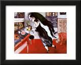 El cumpleaños Lámina por Marc Chagall