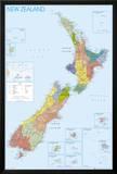NEW ZEALAND MAP Prints