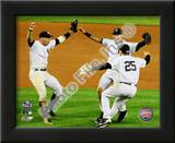 Derek Jeter, Mark Teixeira, and Alex Rodriguez Game Six of the 2009 ALCS Print