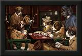 His Station And Four Aces Print by Cassius Marcellus Coolidge