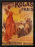 Produits de Kolas Frais Art Print by Louis Tauzin