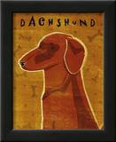 Dachshund (red) Poster by John Golden