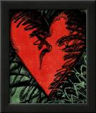 Rancho Woodcut Heart Poster by Jim Dine