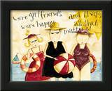 Girl Friends Print by Dan Dipaolo