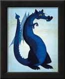 Blue Dragon Prints by John Golden
