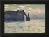 The Cliff, Etretat, Sunset, 1883 Posters by Claude Monet