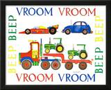 Vroom Vroom Beep Beep Prints by Marnie Bishop Elmer