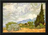 Wheatfield with Cypresses, c.1889 Print by Vincent van Gogh