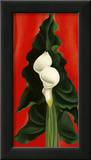 Calla Lilies on Red, 1928 Prints by Georgia O'Keeffe