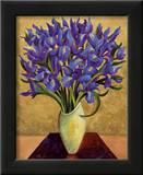 Blue Iris Bouquet Posters by Shelly Bartek