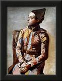 The Seated Harlequin, 1923 高品質プリント : パブロ・ピカソ