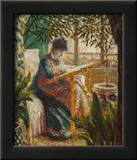 Madame Monet Embroidering, 1875 Posters by Claude Monet