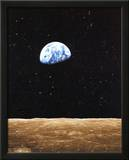 Earth Rise from Moon Prints