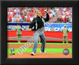President Barack Obama throws out the first pitch 2009 MLB All-Star Game Prints