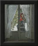 The Red Kerchief: Portrait of Mrs. Monet, c.1868-1878 Art by Claude Monet