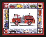 Rescue Trucks Poster by Marnie Bishop Elmer