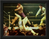 Dempsey and Firpo, 1924 Poster by George Wesley Bellows