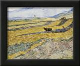 Enclosed Field with Ploughman Posters by Vincent van Gogh