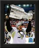 Sidney Crosby Game 7 - 2008-09 NHL Stanley Cup Finals With Trophy Art