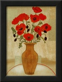 Crimson Poppies Posters by Beverly Jean