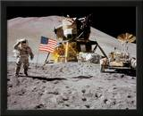 NASA - Astronaut,Rover,Flag On Moon  - ©Spaceshots Print